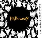 halloween ghost poster of... | Shutterstock .eps vector #726157792