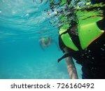 view of under sea | Shutterstock . vector #726160492