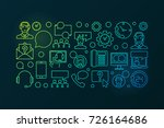 colorful call center and user... | Shutterstock .eps vector #726164686