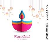 modern elegant diwali design | Shutterstock .eps vector #726165772