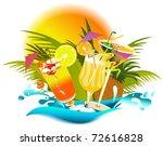 tropical summer drinks