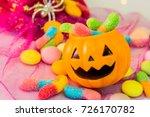 halloween pumpkin  trick or... | Shutterstock . vector #726170782