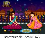 indian family people... | Shutterstock .eps vector #726181672