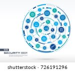 abstract security  access... | Shutterstock .eps vector #726191296