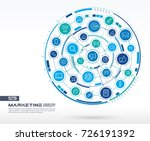 abstract marketing and seo... | Shutterstock .eps vector #726191392