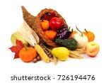 Thanksgiving Cornucopia Filled...