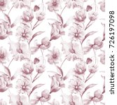seamless wallpaper with spring...   Shutterstock . vector #726197098