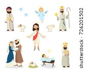 jesus christ story illustration ... | Shutterstock .eps vector #726201502