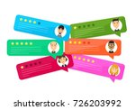 review rating bubble speeches.... | Shutterstock .eps vector #726203992