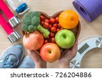 healthy lifestyle concept ... | Shutterstock . vector #726204886