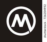 m initial letter logo inside... | Shutterstock .eps vector #726204952