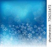 christmas vintage snowflakes... | Shutterstock .eps vector #726211672