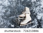 old womans ice skates on the... | Shutterstock . vector #726213886