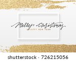 christmas and new year luxury... | Shutterstock .eps vector #726215056