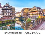 traditional half timbered... | Shutterstock . vector #726219772