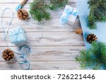 wrapping presents background.... | Shutterstock . vector #726221446
