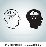depression icon. mental health... | Shutterstock .eps vector #726225562