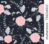 seamless pattern with pink...   Shutterstock .eps vector #726226012