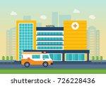 modern hospital building ...   Shutterstock .eps vector #726228436