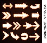 arrow billboard retro light... | Shutterstock .eps vector #726229555