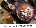chocolate mousse topped with... | Shutterstock . vector #726230272