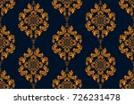seamless ornament on background.... | Shutterstock .eps vector #726231478