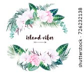 round tropical invitation frame ... | Shutterstock .eps vector #726232138