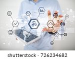 iot  automation  industry 4.0.... | Shutterstock . vector #726234682