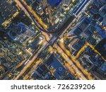 road traffic in city at... | Shutterstock . vector #726239206