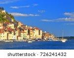 sunny hillside with historical... | Shutterstock . vector #726241432