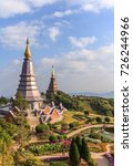 landscape of two pagoda on the... | Shutterstock . vector #726244966