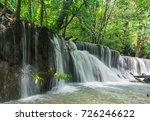 huay mae khamin waterfall in... | Shutterstock . vector #726246622