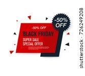 black friday sale label. stock... | Shutterstock .eps vector #726249208