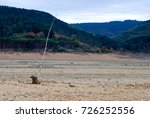 a dry reservoir  beige and... | Shutterstock . vector #726252556