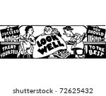 look well   retro ad art banner | Shutterstock .eps vector #72625432