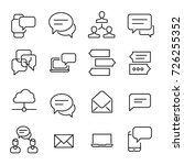 simple collection of chat... | Shutterstock .eps vector #726255352