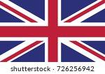 united kingdom national flag  | Shutterstock .eps vector #726256942