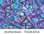 abstract futuristic background... | Shutterstock .eps vector #726261016
