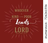 whoever is kind to the poor... | Shutterstock .eps vector #726261556