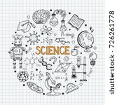 science education doodle set of ... | Shutterstock .eps vector #726261778