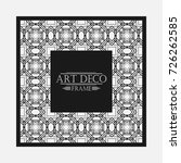 art deco ornamental vintage... | Shutterstock .eps vector #726262585