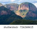 volcanoes mountain range in... | Shutterstock . vector #726268615