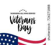 happy veterans day lettering... | Shutterstock .eps vector #726271888