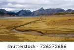 a dry reservoir  beige and... | Shutterstock . vector #726272686