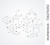 hexagons genetic  science... | Shutterstock .eps vector #726276352