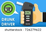 handheld breath alcohol tester... | Shutterstock .eps vector #726279622