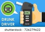 handheld breath alcohol tester... | Shutterstock .eps vector #726279622
