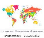 world political map.... | Shutterstock .eps vector #726280312