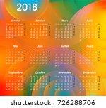 french calendar for 2018 on... | Shutterstock .eps vector #726288706