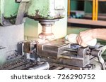 hand workers are pouring... | Shutterstock . vector #726290752
